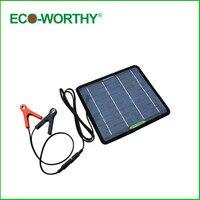 ECO New 5W 18V Portable Solar Panel Power Battery Charger 12V Battery Backup For Car Moto