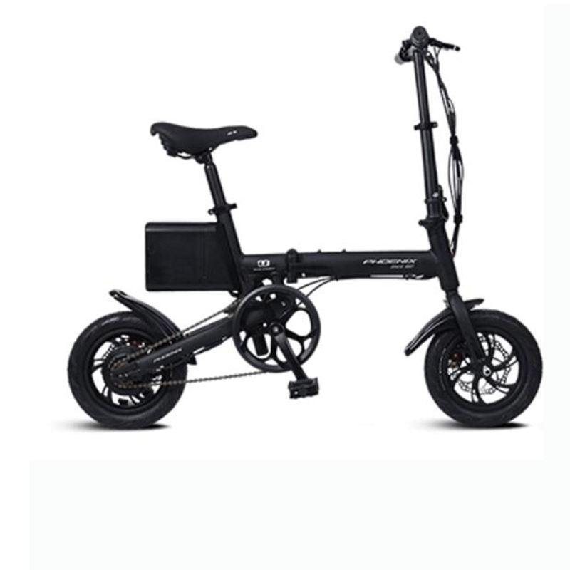 Electric bicycle adult small folding vehicle, mini male and female battery car, bicycle lithium battery booster car