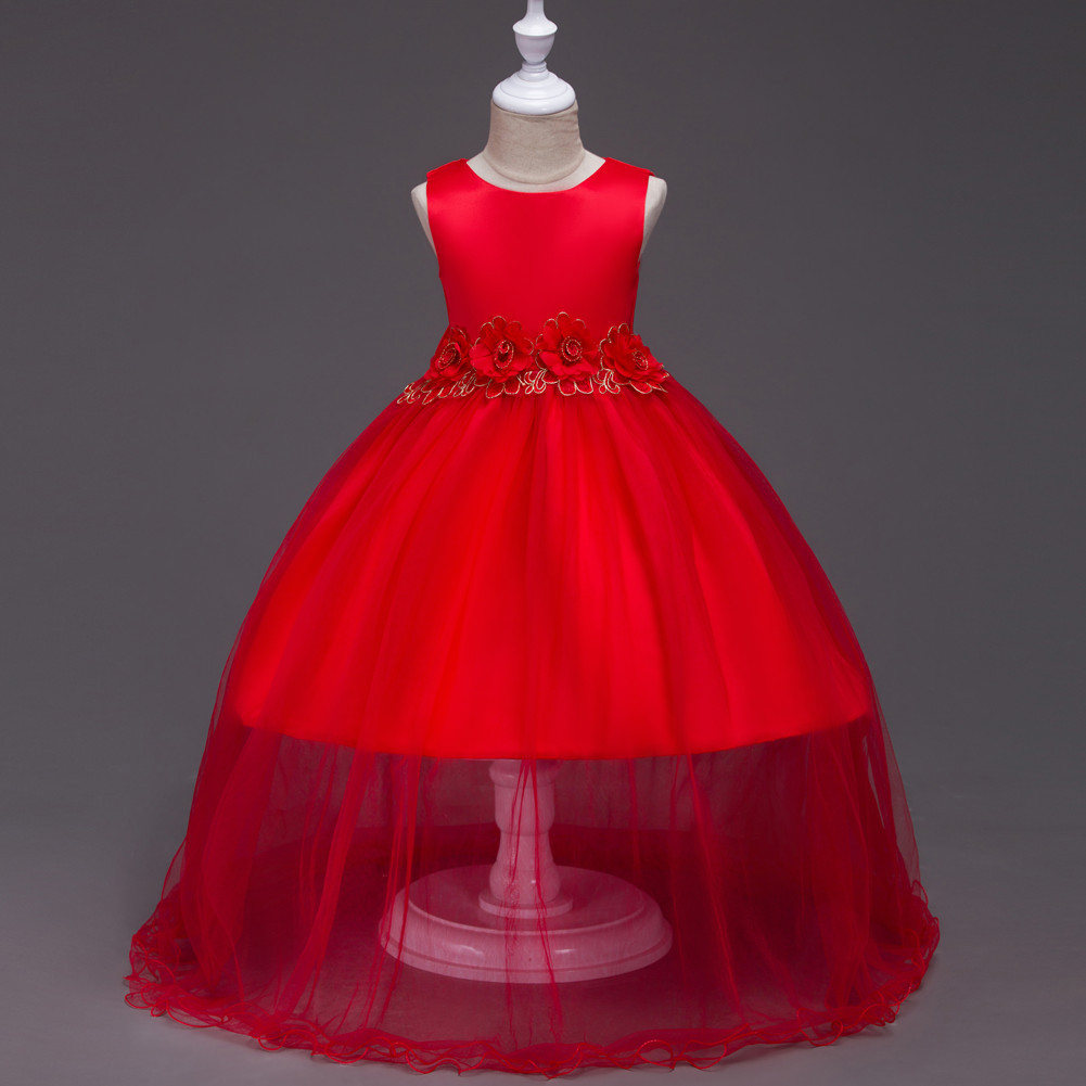 Baby Girl Dress Sleeveless Ball Gown Red/Pink/Blue/Purple ...