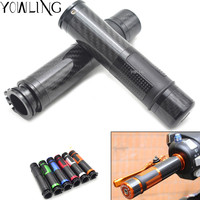 Carbon Fiber 22mm 7/8 Handle Bars Hand Grips Ends Plugs Protector Fit For Honda Yamaha R1 R6 R3 MT 09 Motorcycle Accessories
