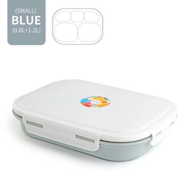 Blue 5 Compartment Cheap bento boxes japanese bento 5c6479e2ed37e