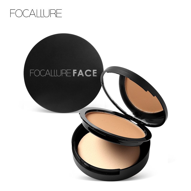 3Colors Pressed Powder Translucent Oil-control Smooth Concealer Matte Powder for Face Makeup image