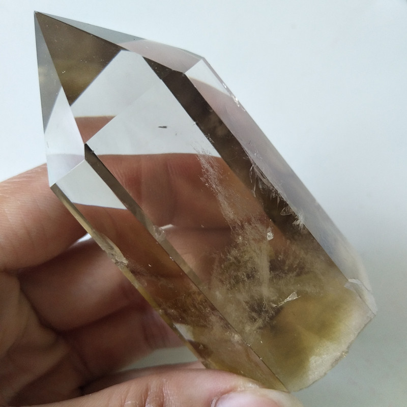 Natural stone citrine quartz crystal wand point chakra energy stones and healing crystals in Stones from Home Garden