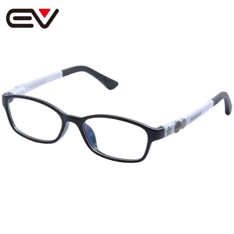 Fashion Kids Children Toddler TR90 Eyeglasses Frames Boys Girls Silicone Nose Spring hinge Arm Optical Glasses Frames EV1375