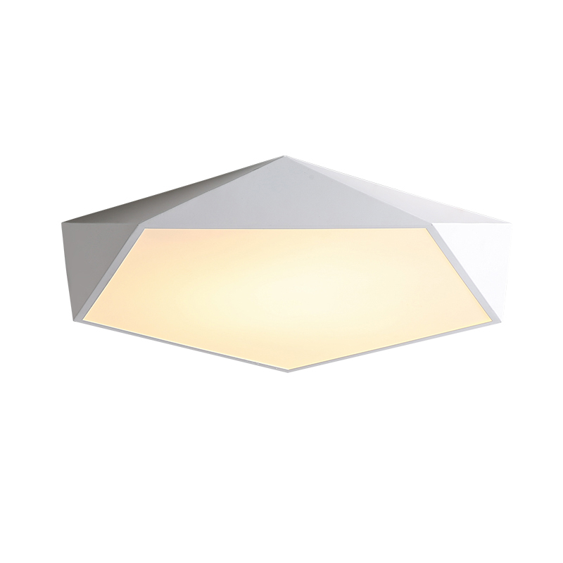 Iyoee Modern Led Ceiling Lights Luminaire For Living Room Nordic Style Remote Control Lamp 3d Pentagon Fixture Dimmable Lustre Ceiling Lights