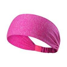 HOT SALE  Elastic Sport Headband Fitness Yoga Sweatband Outdoor Gym Running Tennis Basketball Wide Hair Bands Athletic HEADBAND elastic lacework wide sport headband