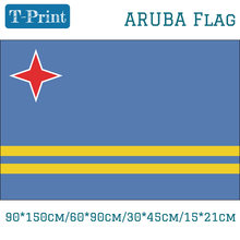 Free shipping Aruba Flag For National Day 90*150cm/60*90cm/15*21cm 30*45cm Car Flag 3x5 Feet(China)