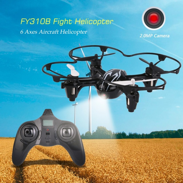 FY310BHD 2.4G Frequency Super Lightweight Quadcopter Aerocraft 6 Axes Quadcopter With 2.0MP Camera + Gyroscope