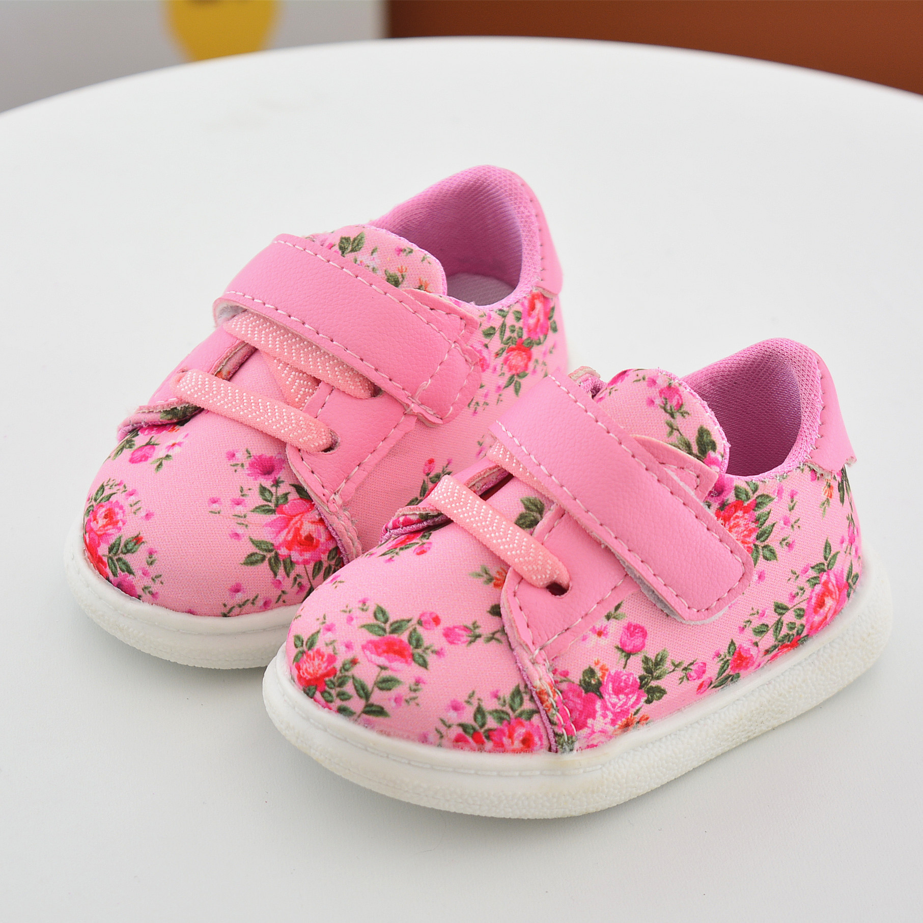 Toddler Infant Baby Girls Shoes Pink Cotton Strap Casual Newborn