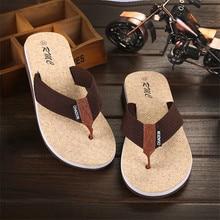 купить Fashion Men Summer Flip Flop Shoes Sandals Male Slipper Indoor Or Outdoor Beach Flip Flops Men Home Non-slip Breathable Slippers по цене 258.7 рублей