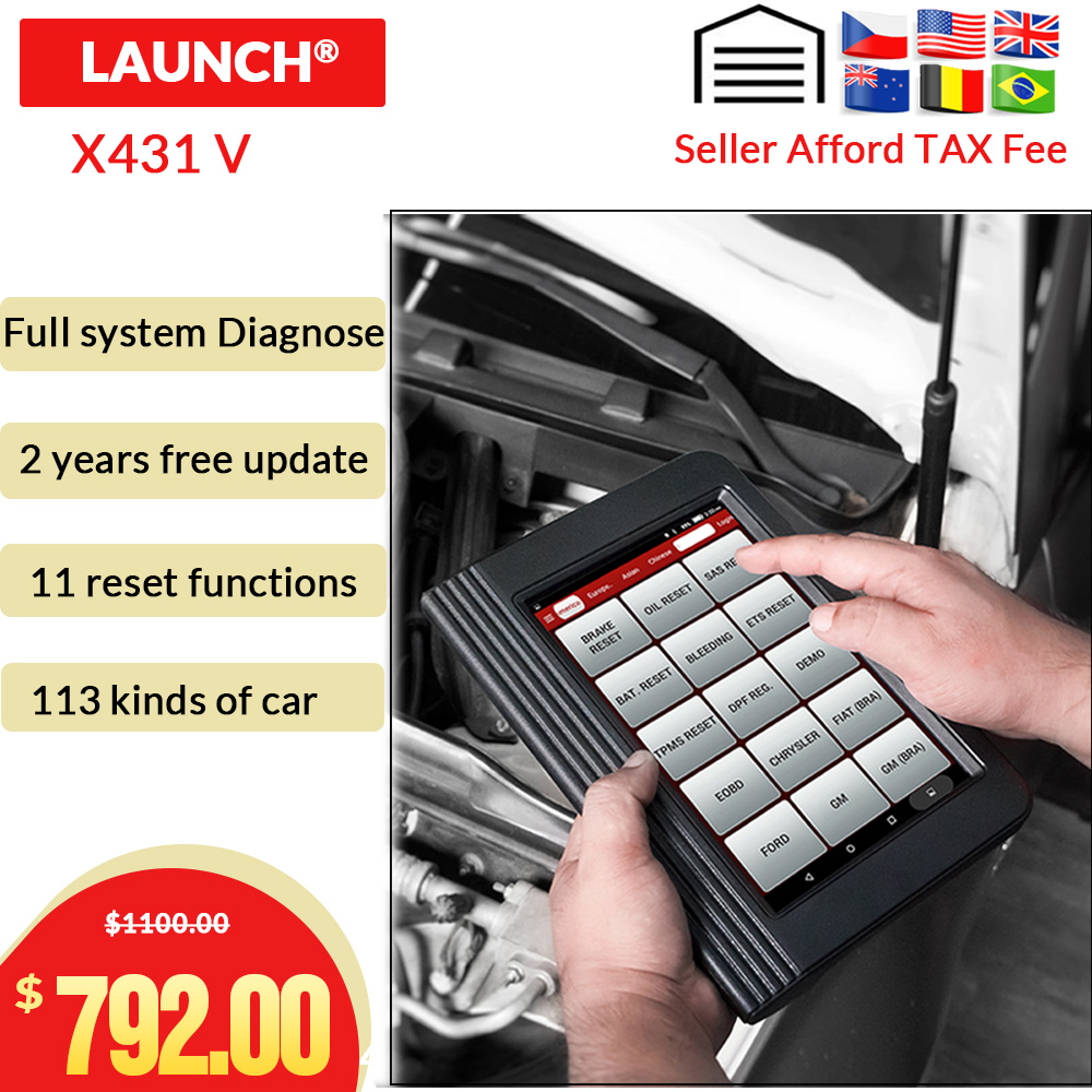 Launch Diagnostic X431 V OBDII Diagnostic Tool With 11 Special Function WiFi Bluetooth x431 pro Update
