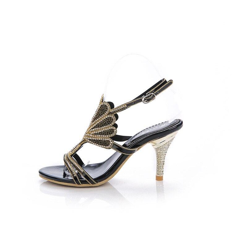 Nero Elegante G sparrow Nuovo Il Sexy Sandali Centimetri Estate A Rhinestone Scarpe Donna Casual Da Alto Tacco Delle 2019 Di 8 Con Spillo Signore 6UdFwqUr