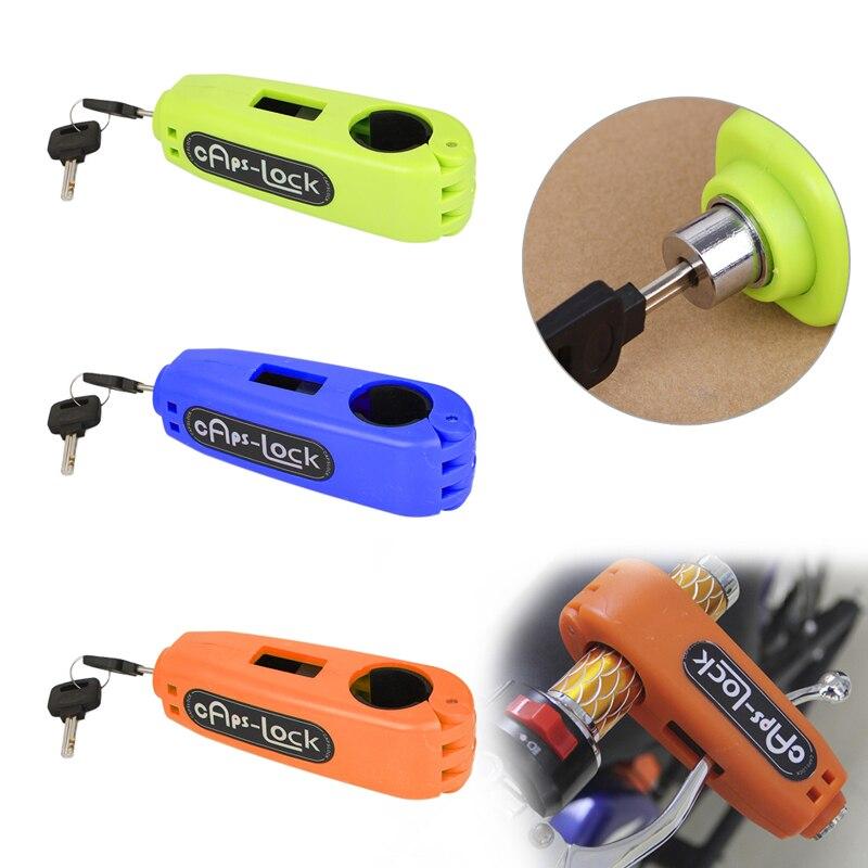 ABS Croc-bloqueo motocicleta Scooter manillar Therottle cuerno agarre seguridad manillar Grip Lock + 2 llaves