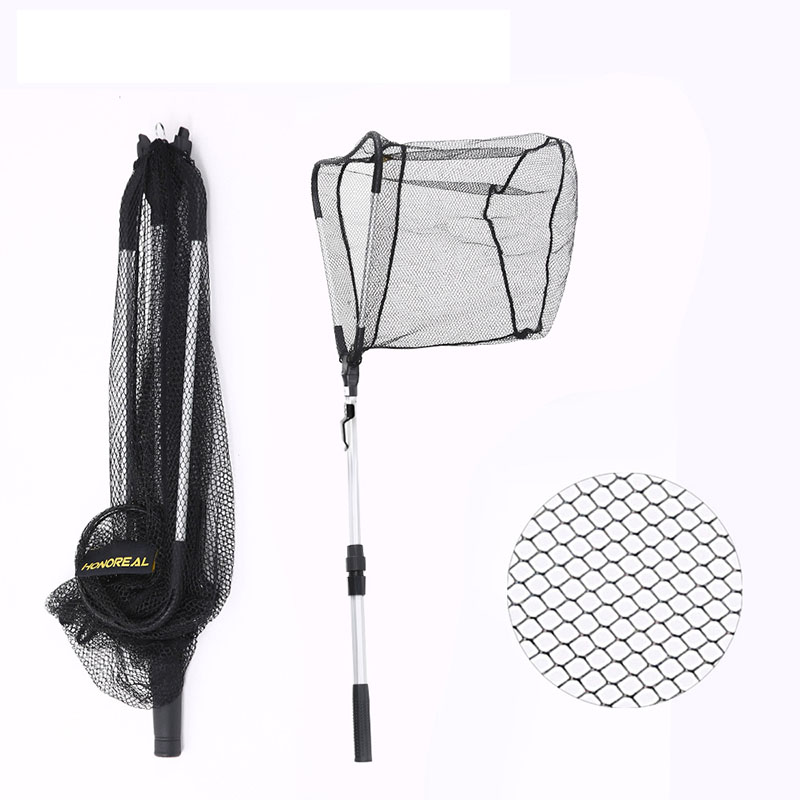 95cm 160cm 210cm Folding Fishing Net Retractable Telescoping Aluminum Alloy Pole Super Large Folding Landing Net PEI007 in Fishing Net from Sports Entertainment