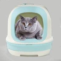 Обучение Sticke туалетов домашних животных туалет коробка кошка судно маленький щенок Коннер туалеты лоток пометов Kattenbak Gesloten Животные Продук
