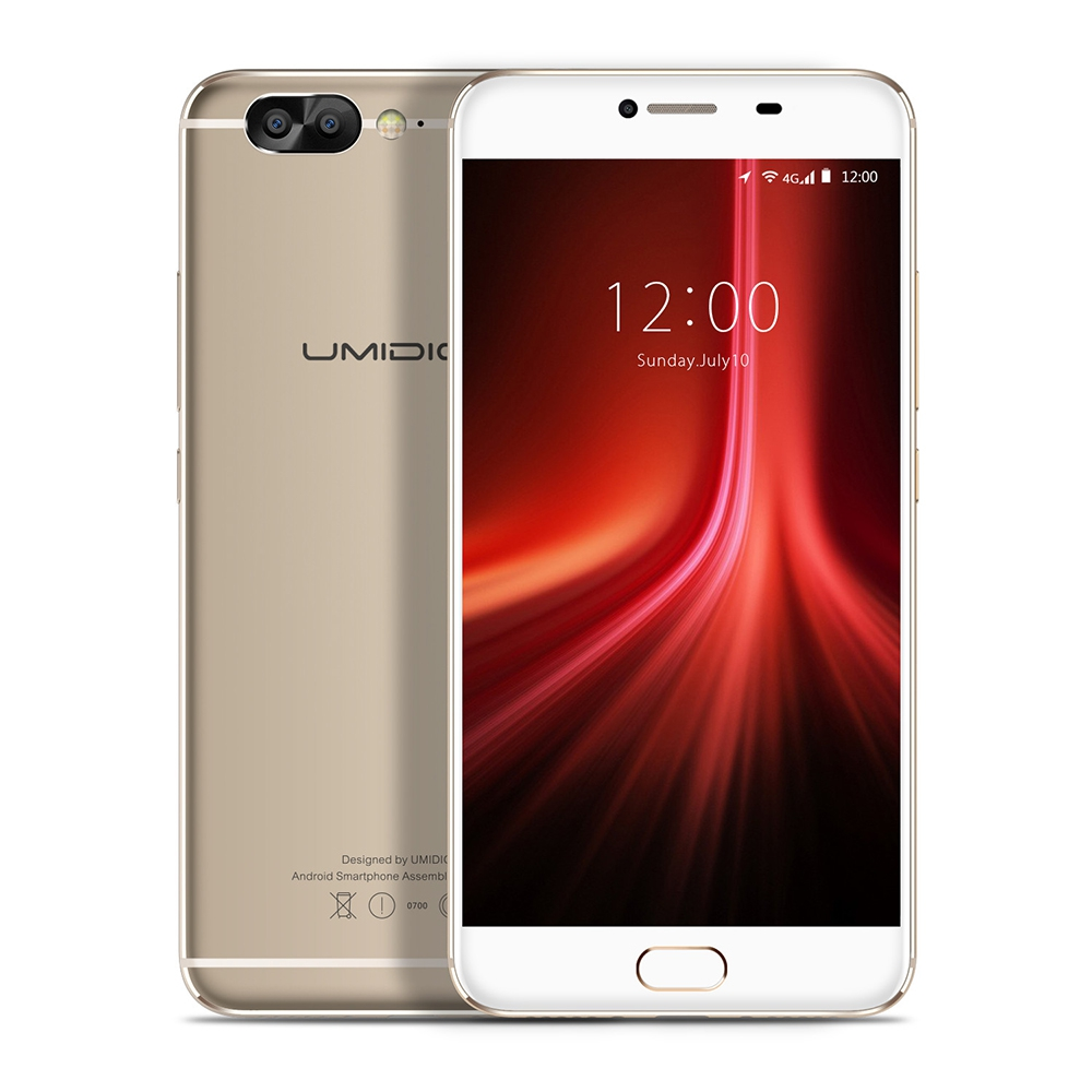 UMIDIGI Z1 4G Android 7.0 Smartphone 5.5 Inch MTK6757 Octa Core 2.3GHz Mobile 6GB+64GB 4000mAh Battery Front Dual Cameras Phone