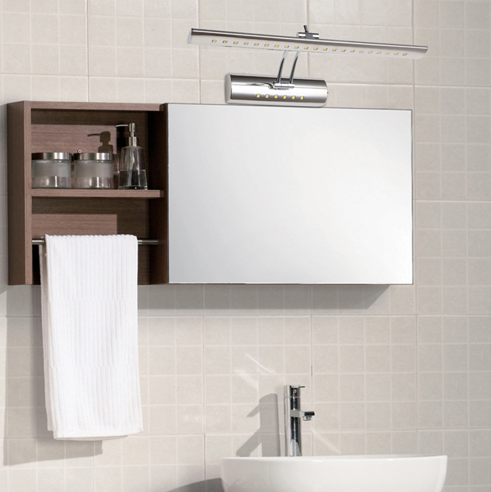 led front mirror wall light 40cm 42cm wall lamp stainless steel modern bathroom dressing table adjustable