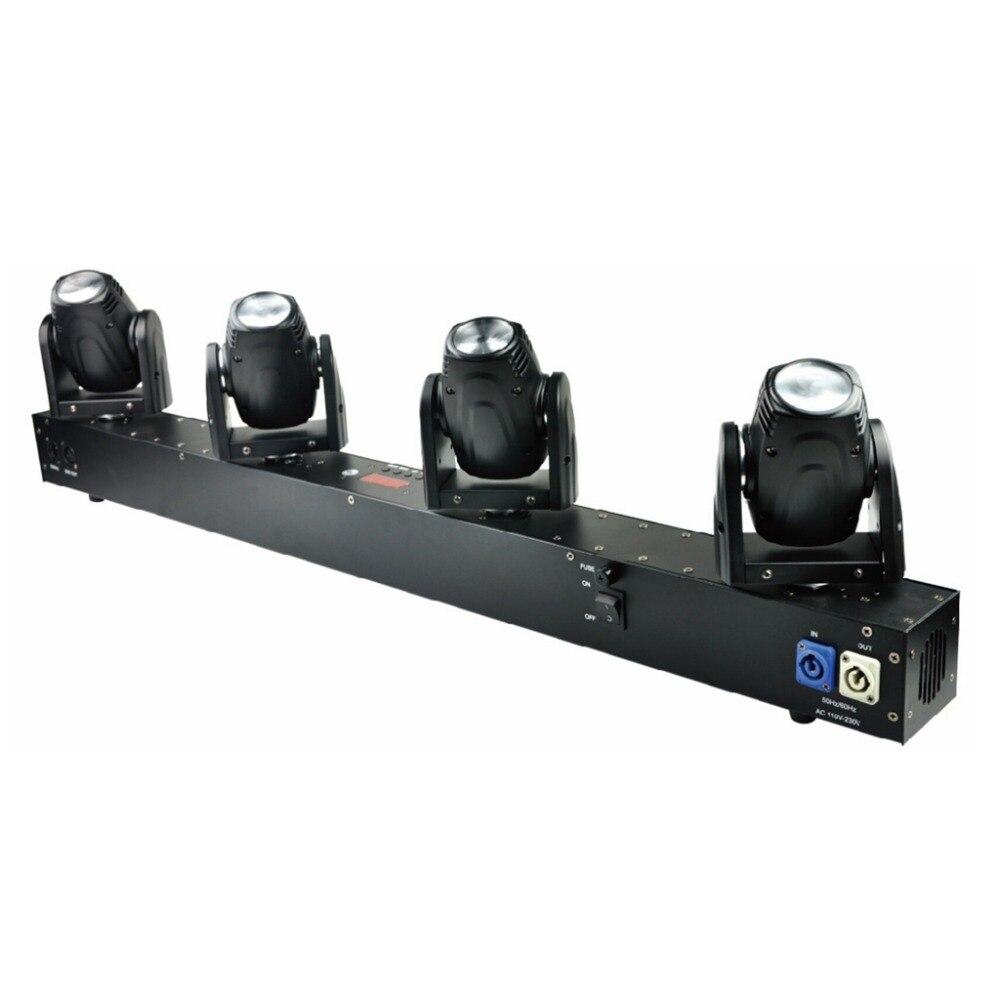 Бесплатная доставка 4 головки 60 Вт светодиодный мини перемещения луча голову свет профессиональный этап DJ освещения DMX контроллер диско про