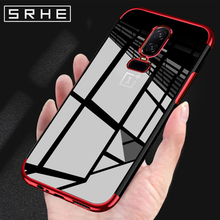 SRHE For OnePlus 6 Case Cover OnePlus6 Silicone Soft Full Plating TPU Cover For OnePlus 6 Back Cover Case For One Plus 6