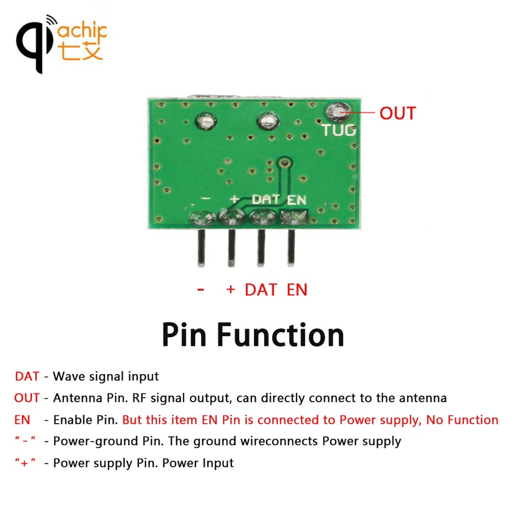 Qiachip 315mhz Rf Transmitter Superheterodyne Ask Ook Module Dc 1ch Arduino Circuit For Mcu Uno Diy Kits 315 Mhz Wireless Remote Control In Controls From