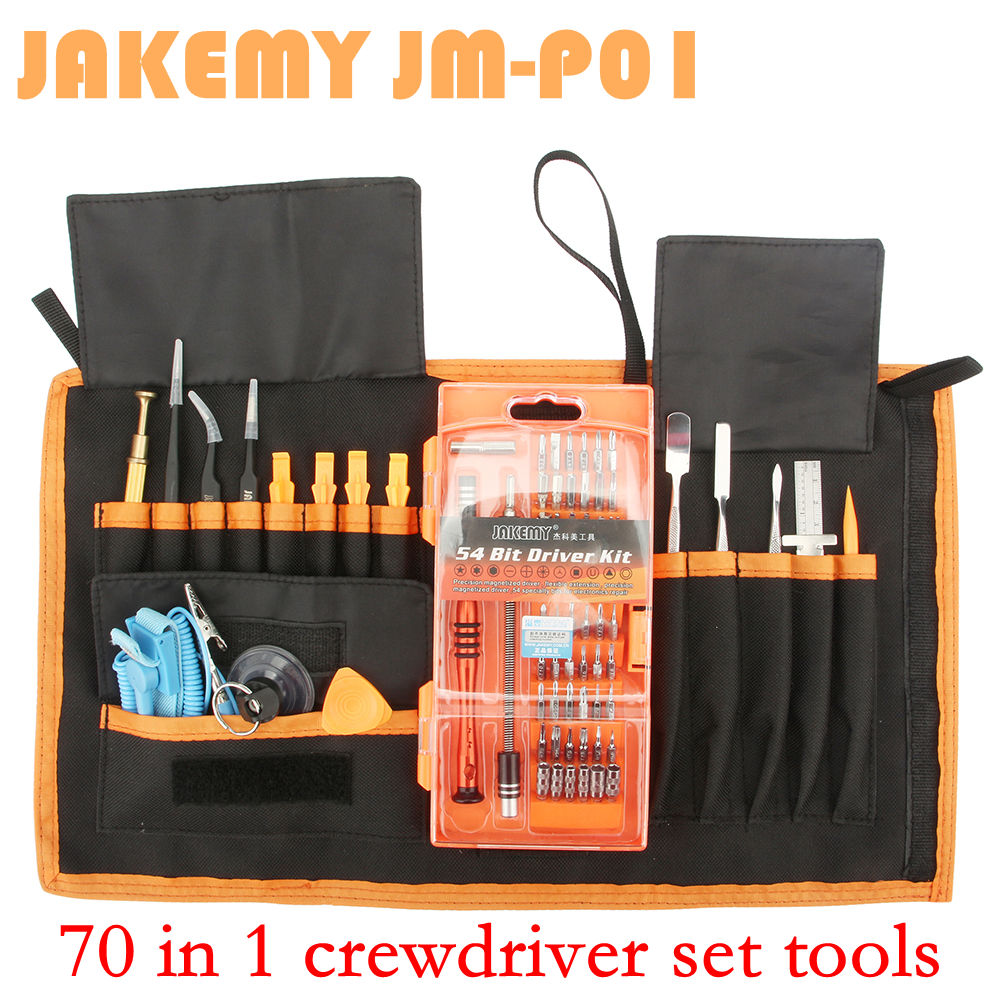 JM-P01 70-in-1 High Precision Screwdriver Repair Kit Mobile Phone Opening Tool for iPhone iPad Samsung Cell Phone Hand Tools Set lcd display adjustable temperature automatic anion hair curler magic styling tools