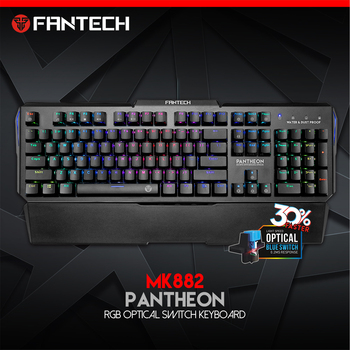 FANTECH MK882 Professional Mechanical Keyboard RGB Colorful Backlit Gaming Keyboard USB Waterproof Keyboard For Desktop Laptop