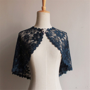 Image 2 - Elegant Bridal Jackets and Shrugs Evening Party Lace Wraps Bolero with Brooch For Women Coat