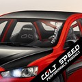 Car Styling COLT SPEED PERFORMANCE PRODUCT For MITSUBISHI Outlander Lancer Racing Sport Vinyl Car Stickers and Decals