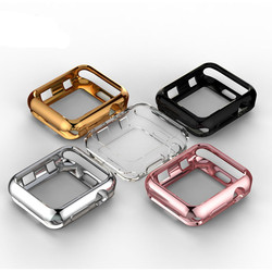 TPU bumper for Apple Watch 4 case 44mm 40mm iWatch band 42mm 38mm Screen Protector case Cover Apple watch 3 21 42/38 Accessories