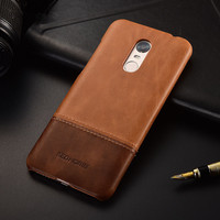 Luxury Brand Vintage Genuine Leather Back Cover For Xiaomi Redmi 5plus Phone Case Phone Shell Bag