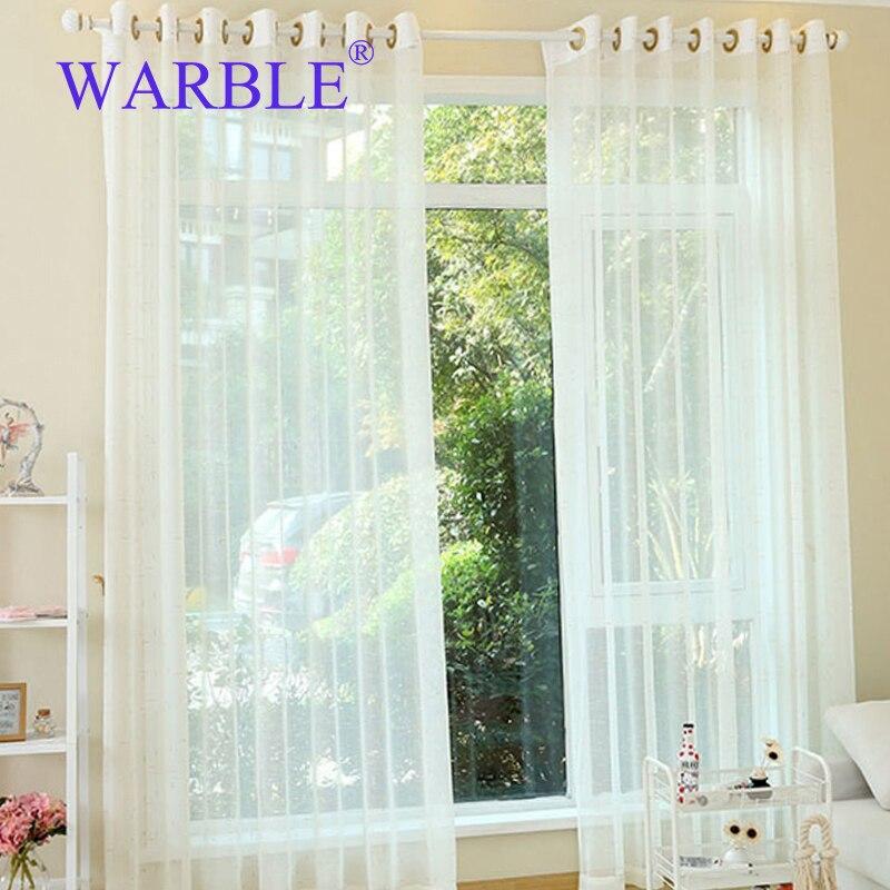 Warble geborduurde voile gordijnen slaapkamer vitrage voor for Gordijnen voor slaapkamer