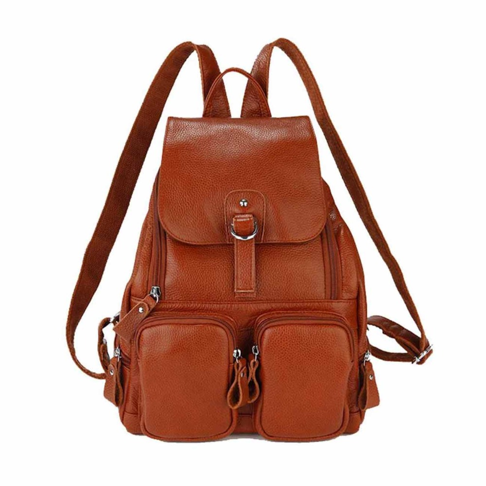 ZENTEII Women Genuine Leather Backpack zenteii women faux synthetic leather pu backpack