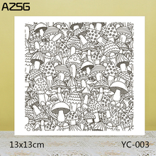 AZSG Mushroom Clear Stamps/Seals For DIY Scrapbooking/Card Making/Album Decorative Silicone Stamp Crafts