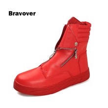 Men PU Leather font b Boots b font Autumn New Comfort Men font b Boots b