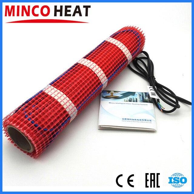Minco חום מותג מים הוכחה תחת אריח רצפת בטון חימום רבד רצפת חימום עם WifI תרמוסטט חימום מחצלת 230V 150W