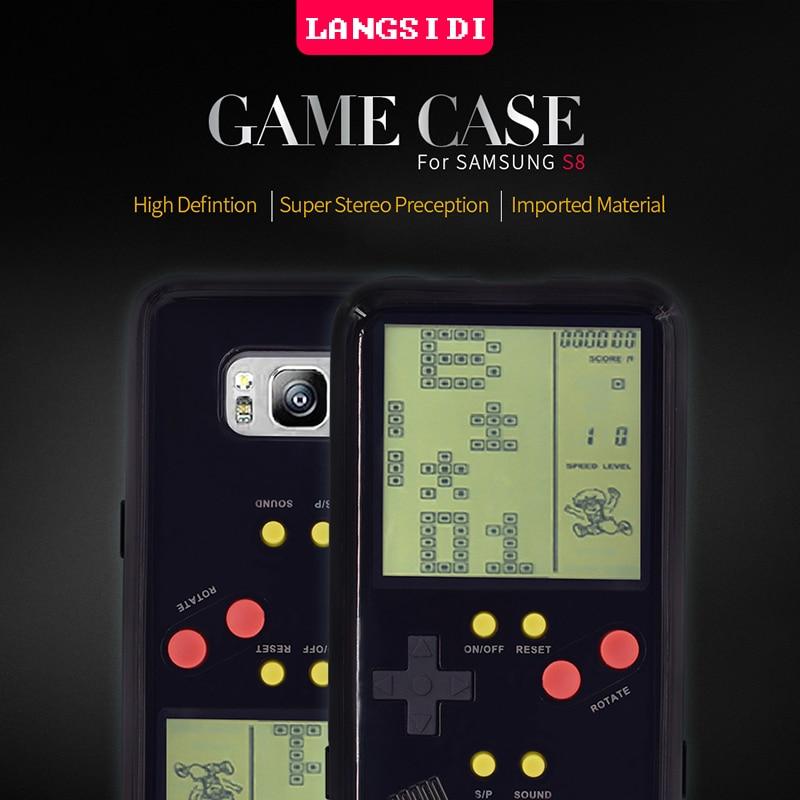 Nintendo Gameboy Tetris Retro Game Phone Case for <font><b>Samsung</b></font> Galaxy S8 Soft Case Child Memory <font><b>Puzzle</b></font> Phone Case