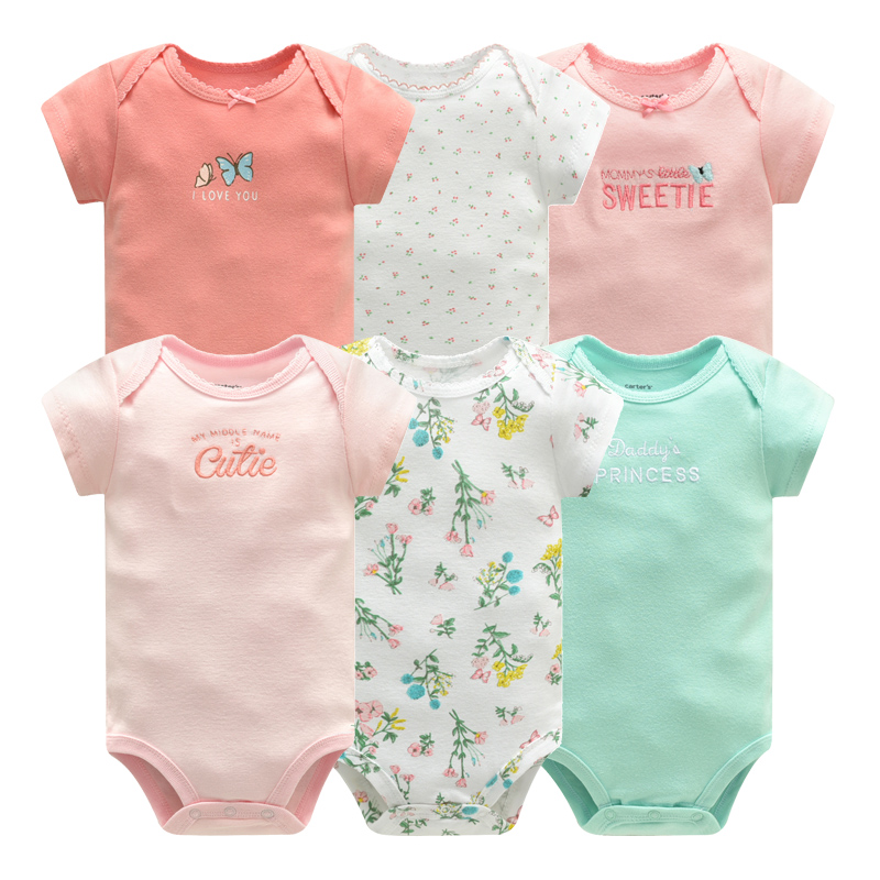 Newborn Bodysuit Baby Boys Girls Clothes Toddler Cotton Cartoon Short Sleeve Body Suits Infant Onesie Jumpsuit Ropa Para Bebe