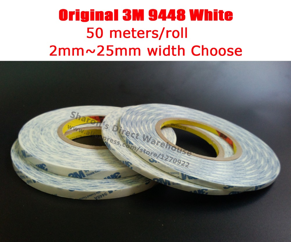 Original 3M Scotch White Glue Tape For Android Smart Phone Tablet Iphone Ipad Camera Lens Touch Display Fix 2mm~25mm Choose 9448