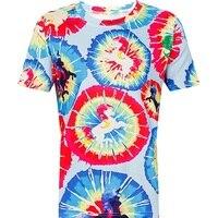 T-shirt für Frauen 2018 Sommer Kurzarm Bunte Einhorn Malerei Digitale Tie Dye Gedruckt T-top für Mädchen T-shirt 3D T-shirt
