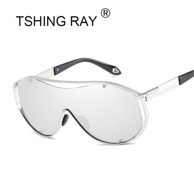 TSHING RAY Escudo Óculos De Sol Dos Homens de Grandes Dimensões Mulheres  Celebridade Hip Hop Retro 7445ae710c