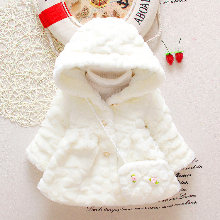 ... baby girls jackets faux fur infant coats with bag newborn winter  hoodies toddler clothing for girls ... - Clothing Brazil Picture - More Detailed Picture About Baby Girls