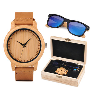 Image 2 - relogio masculino BOBO BORD Bamboo Men Watch Wooden Sunglasses Suit Present Box Gift Set Women Watches Accept LOGO Drop Shiping