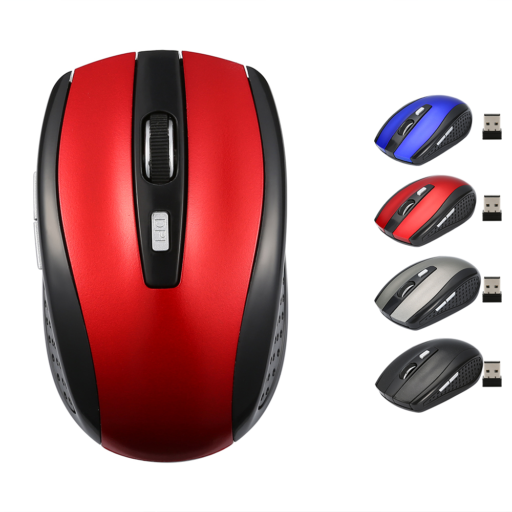 6 Buttons Wireless Mouse Optical 1200DPI USB Gaming Mouse Mice for Laptop Notebook with USB Receiver genuine rapoo 1090 2 4ghz wireless 1000dpi usb optical mouse w receiver black 1 x aa