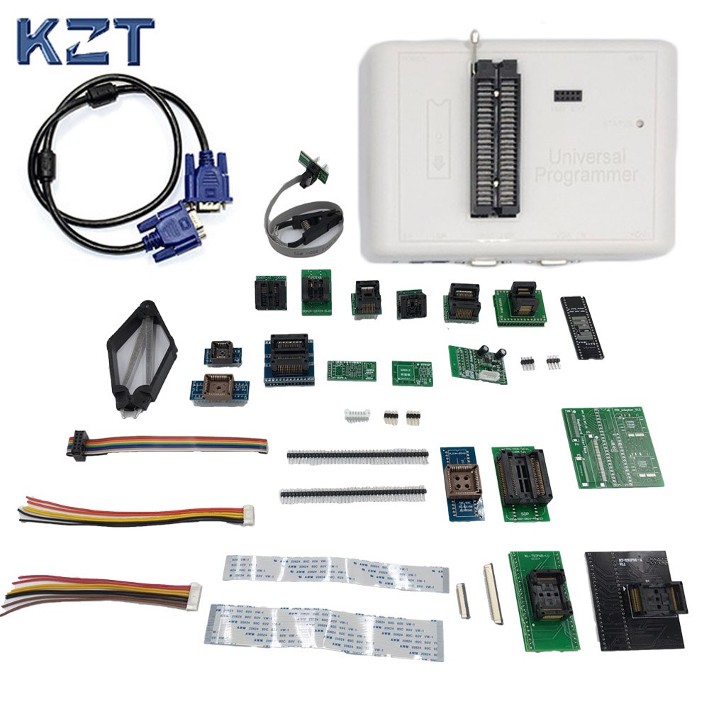 Universal RT809H EMMC-Nand FLASH Programmer + 24 ADAPTERS WITH CABELS EMMC-Nand better than RT809F/TL866CS/TL866A Free DHL bkt agrimax rt 765 710 70r42 173a8 tl