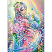 Diy 5d diamond painting cross stitch of  embroidery the flower elves mosaic decoration gifts