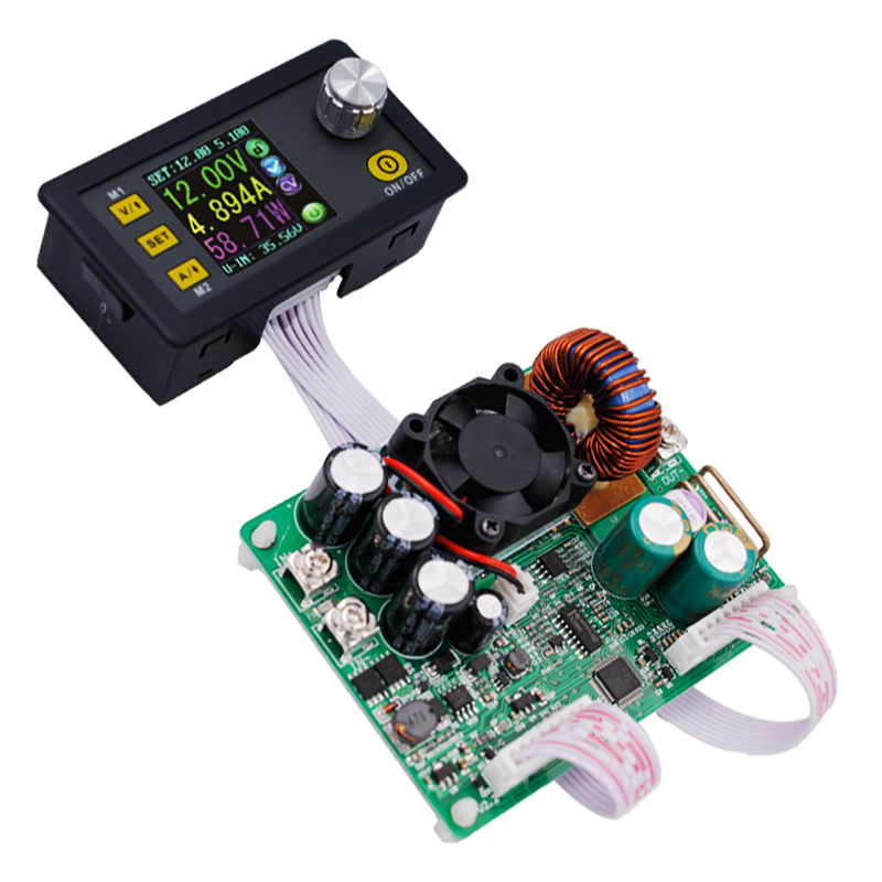 DPS5015 ЖК-дисплей Вольтметр Амперметр 50 В 15A постоянной Напряжение ток Шаг вниз программируемый Питание модуля 15%