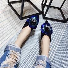 2109 г., весенние тапочки с цветочным узором модные трендовые сандалии на плоской подошве с вышивкой в виде цветов, со стразами Большие размеры 41, 42