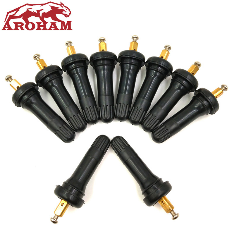 4*TPMS Tire Pressure Monitoring System Anti-explosion Snap In Tire Valve Stems H