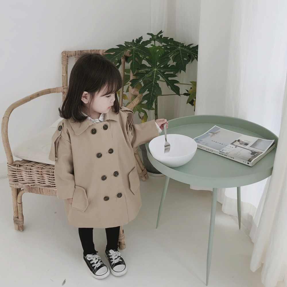 Milancel ジャケットのため子供の女の子ダブル乳房ウインドブレーカー子供トレンチコート