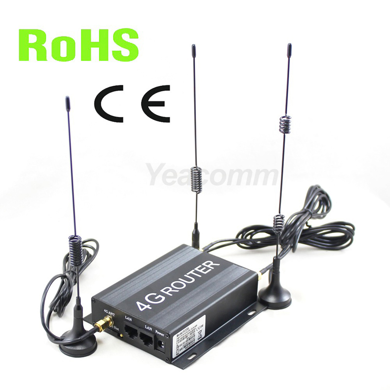 R220 série 12 V 24 V véhicule voiture 4g routeur wifi bus avec fente pour carte sim et antenne externe SMA